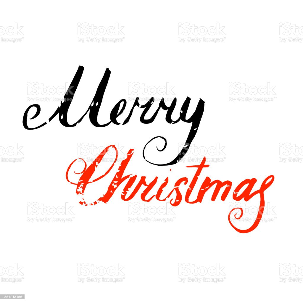 Merry Christmas hand lettering card royalty-free merry christmas hand lettering card stock vector art & more images of 2018