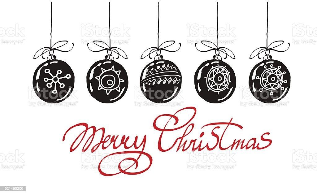 Frohe Weihnachten-hand Schriftzug, isoliert auf weißem Hintergrund. Vektor-Bild ein. Lizenzfreies frohe weihnachtenhand schriftzug isoliert auf weißem hintergrund vektorbild ein stock vektor art und mehr bilder von computergrafiken