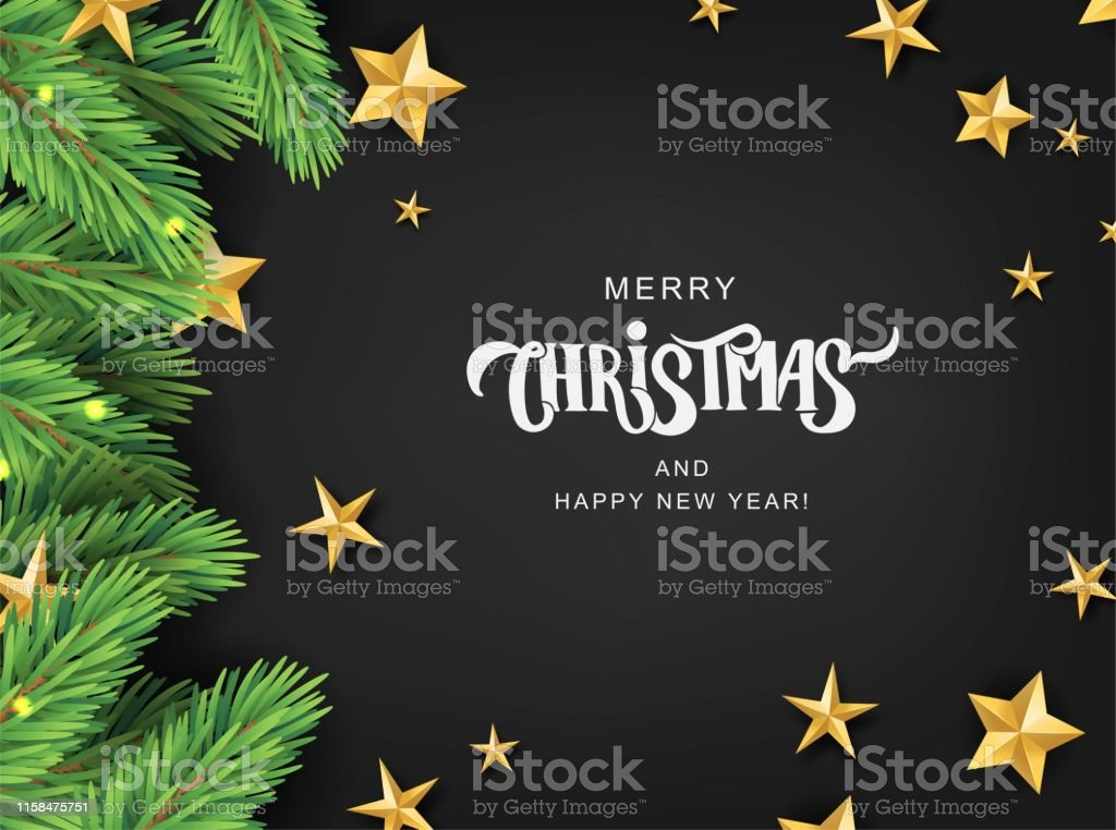 Frohe Weihnachten Text Karte.Frohe Weihnachten Hand Schriftzug Textkarte Auf Einem