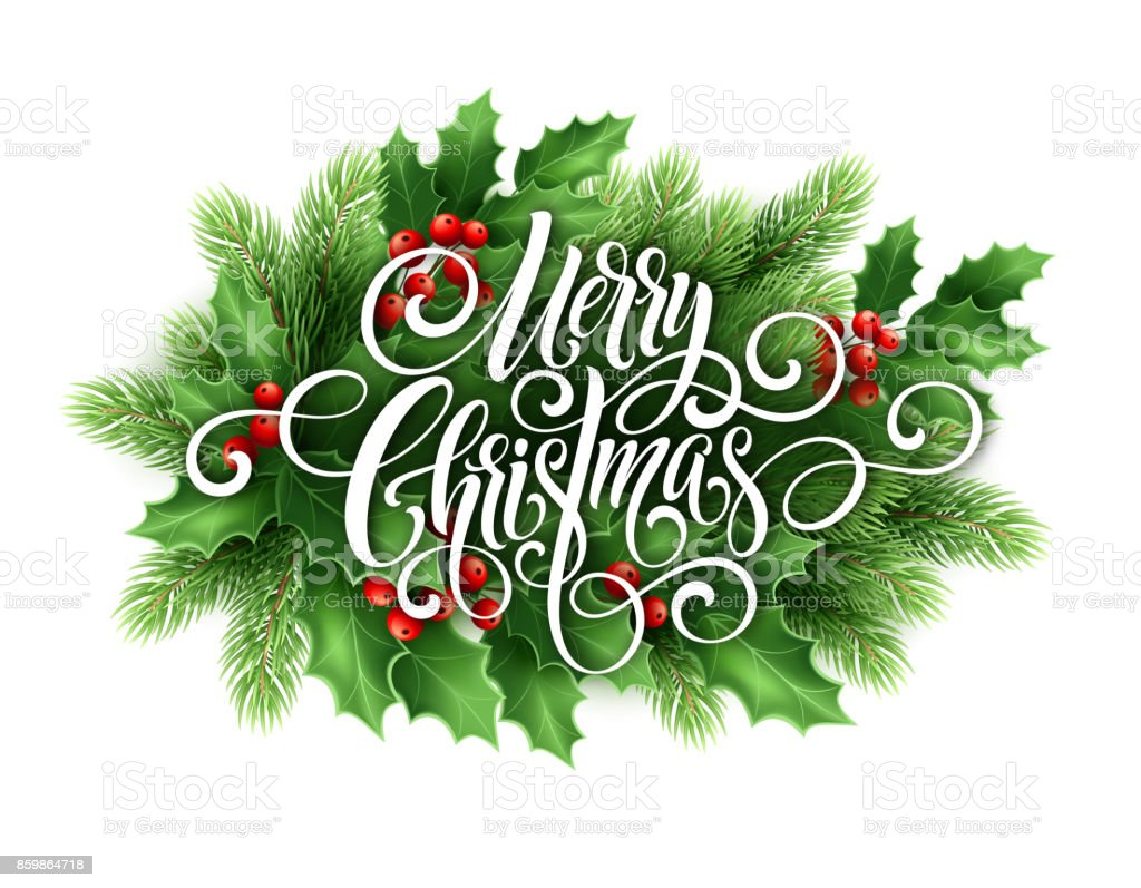 Frohe Weihnachten Handschrift Skript Schriftzug Weihnachtsgrußkarte ...