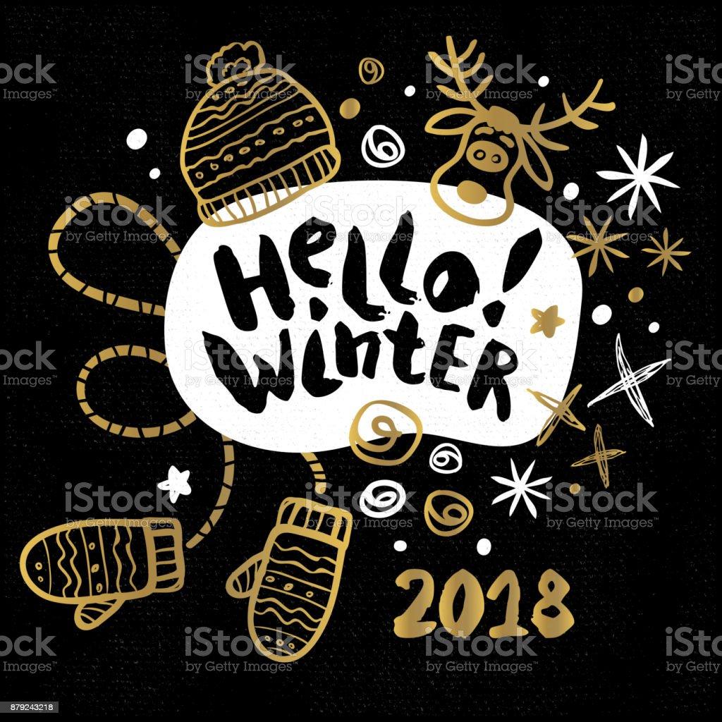 Frohe Weihnachten Glücklich Neue 2018 Stock Vektor Art und mehr ...