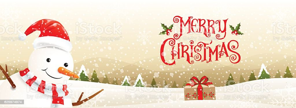 merry christmas& happy new year 2017, Type vector art illustration