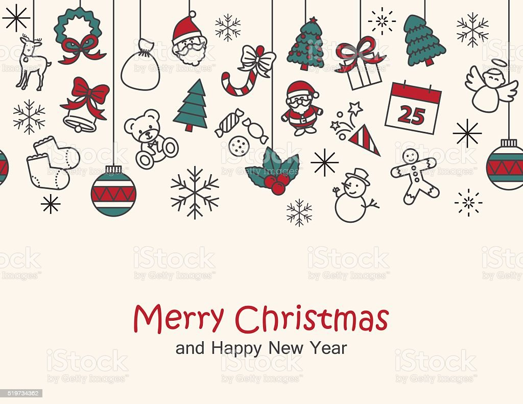 merry christmas happy new year backgroundcard print seamle royalty free merry