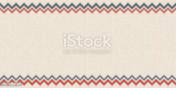 istock Merry Christmas Happy New Year border frame scandinavian ornaments 1270269337