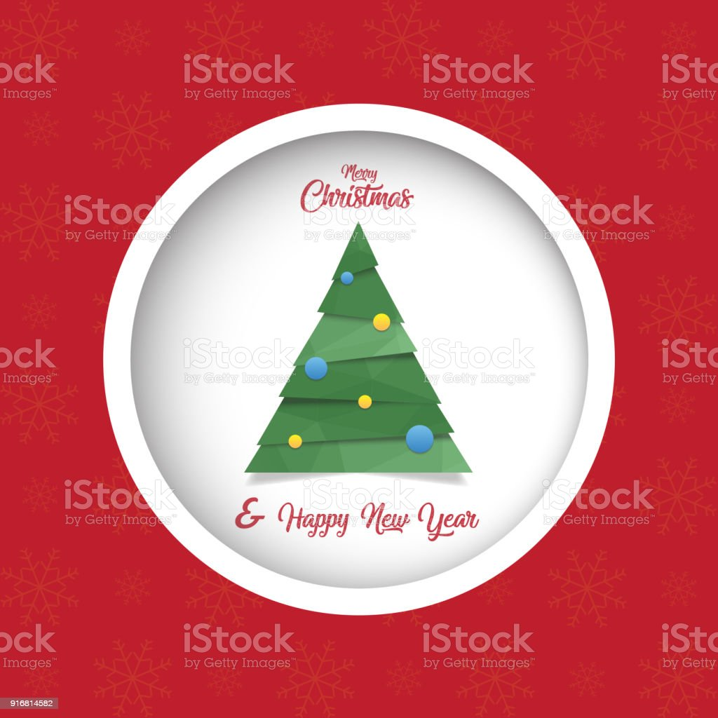 Merry Christmas Happy New Year Card Stock Vector Art & More Images ...