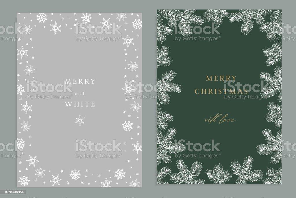 Vintage Bilder Weihnachten.Frohe Weihnachten Frohes Neues Jahr Dekorative Vintage Grußkarten