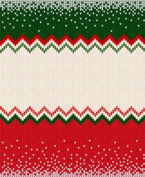 illustrazioni stock, clip art, cartoni animati e icone di tendenza di merry christmas happy new year greeting card frame scandinavian ornaments - sfondo vacanze e stagionali