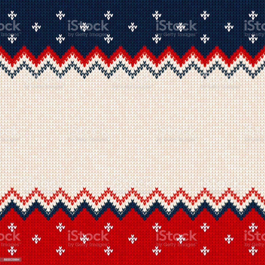 Frohe Weihnachten, frohes neues Jahr Grußkarte Frame skandinavischen Ornamente – Vektorgrafik
