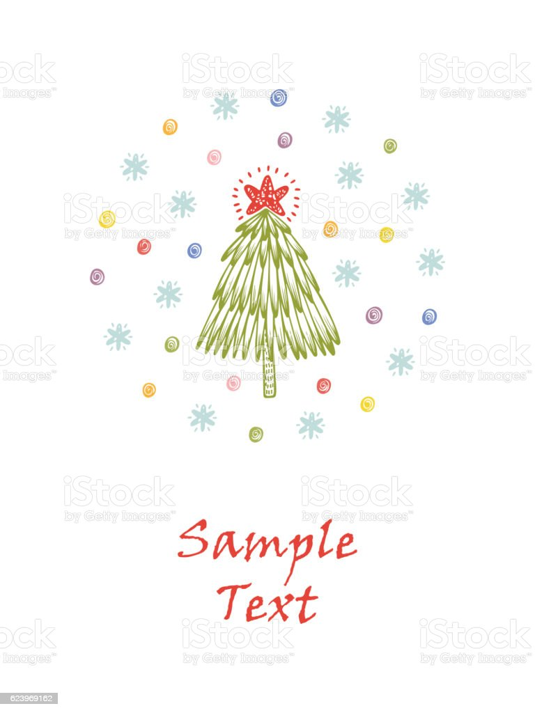 merry christmas happy new year greeting card template christmas tree royalty free merry