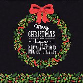 merry christmas happy new year.  Holly