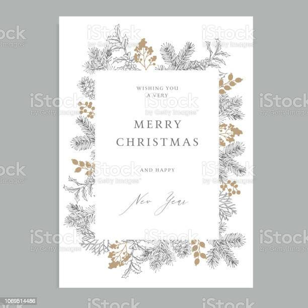 Merry christmas happy new year vintage floral greeting card holiday vector id1069514486?b=1&k=6&m=1069514486&s=612x612&h=hs4icnmlpatzyhm786uhpkhx5ra 2pa8io9v9k0wd1a=