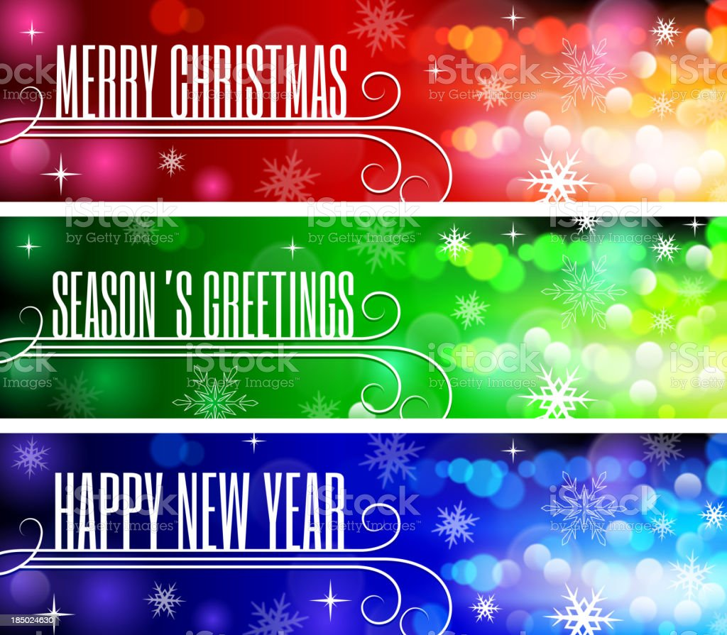 Merry Christmas & Happy New Year's Holiday Greeting Card royalty-free merry christmas happy new years holiday greeting card stock vector art & more images of 2014