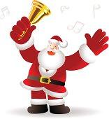 Merry Christmas: Happy Santa Claus Greeting, Shaking Jingle Bell