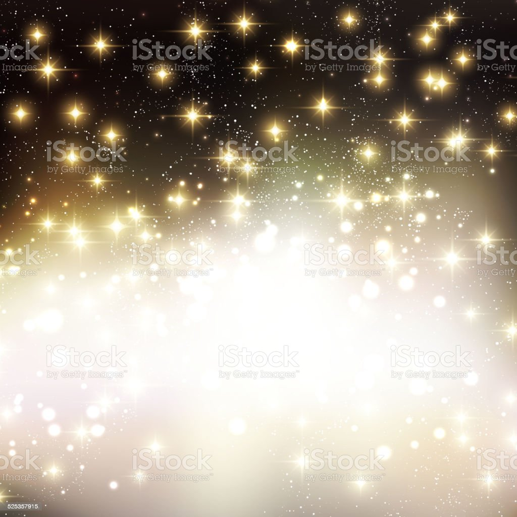 Merry Christmas Holiday background with shiny star vector art illustration
