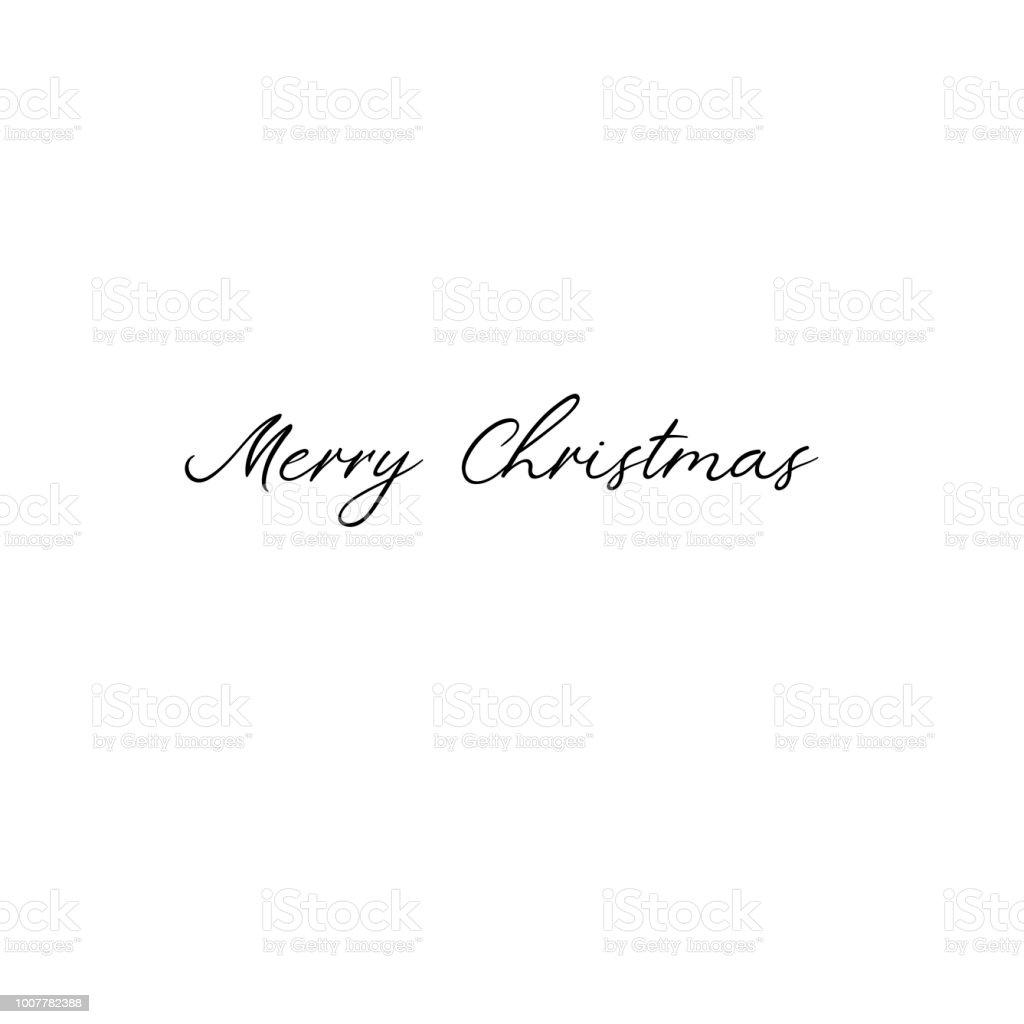 Ilustración De Feliz Navidad Caligrafía De Vacaciones