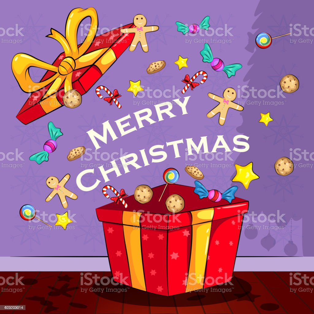 Merry Christmas holiday greeting card background vector art illustration