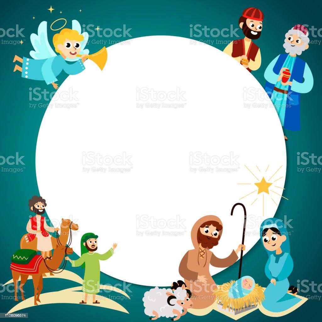 Frohe Weihnachten Jesus.Frohe Weihnachtenset Fliegende Engel Und Jesus Christus