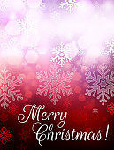 Merry Christmas Holiday Snowflake Background