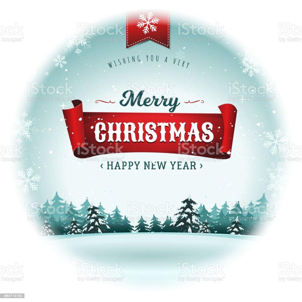 Merry Christmas Holidays Snowball vector art illustration