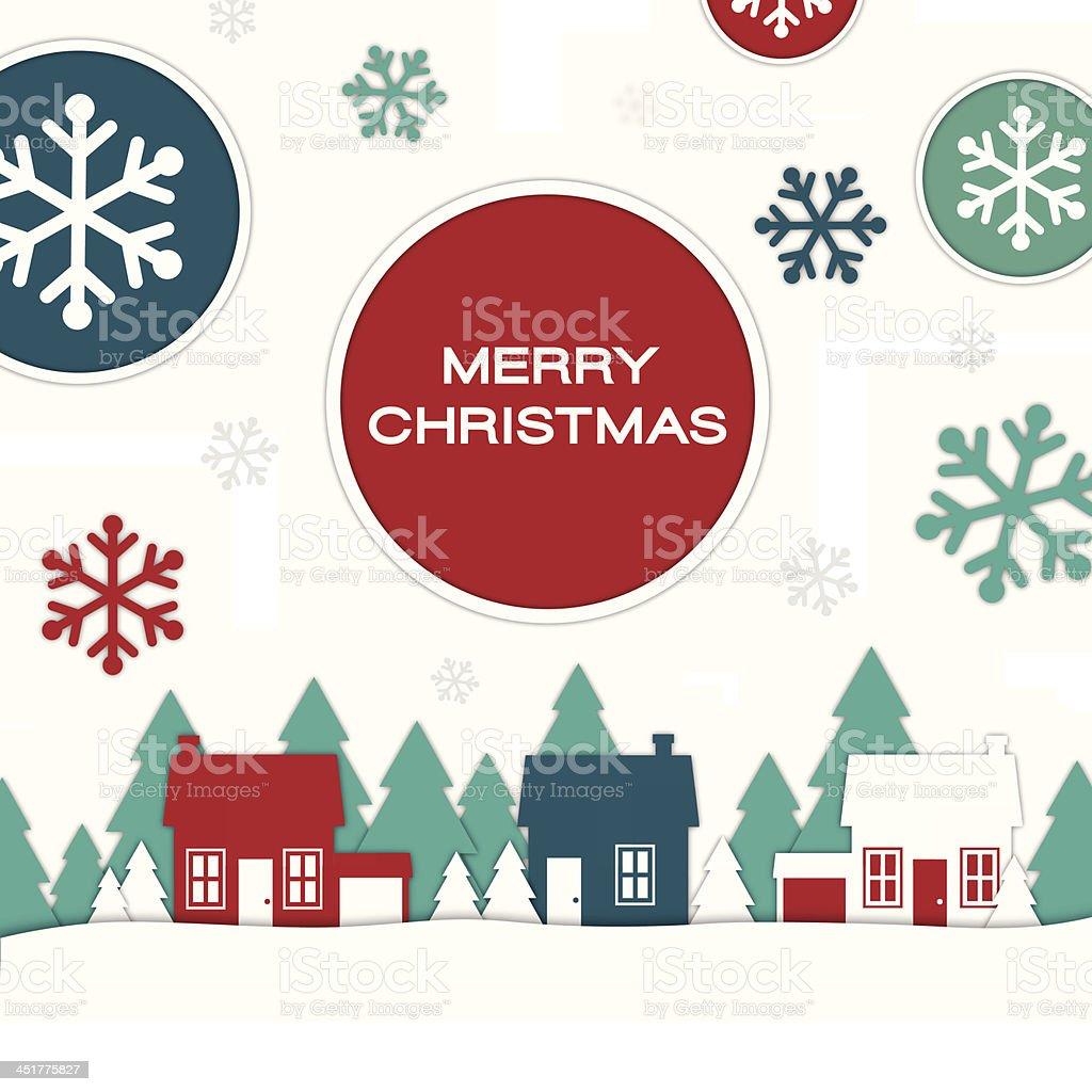 Merry Christmas Homes royalty-free stock vector art