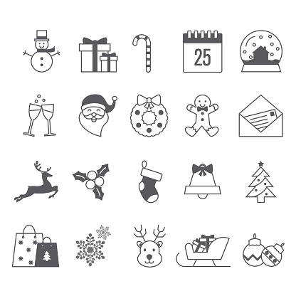 Merry Christmas icon collection