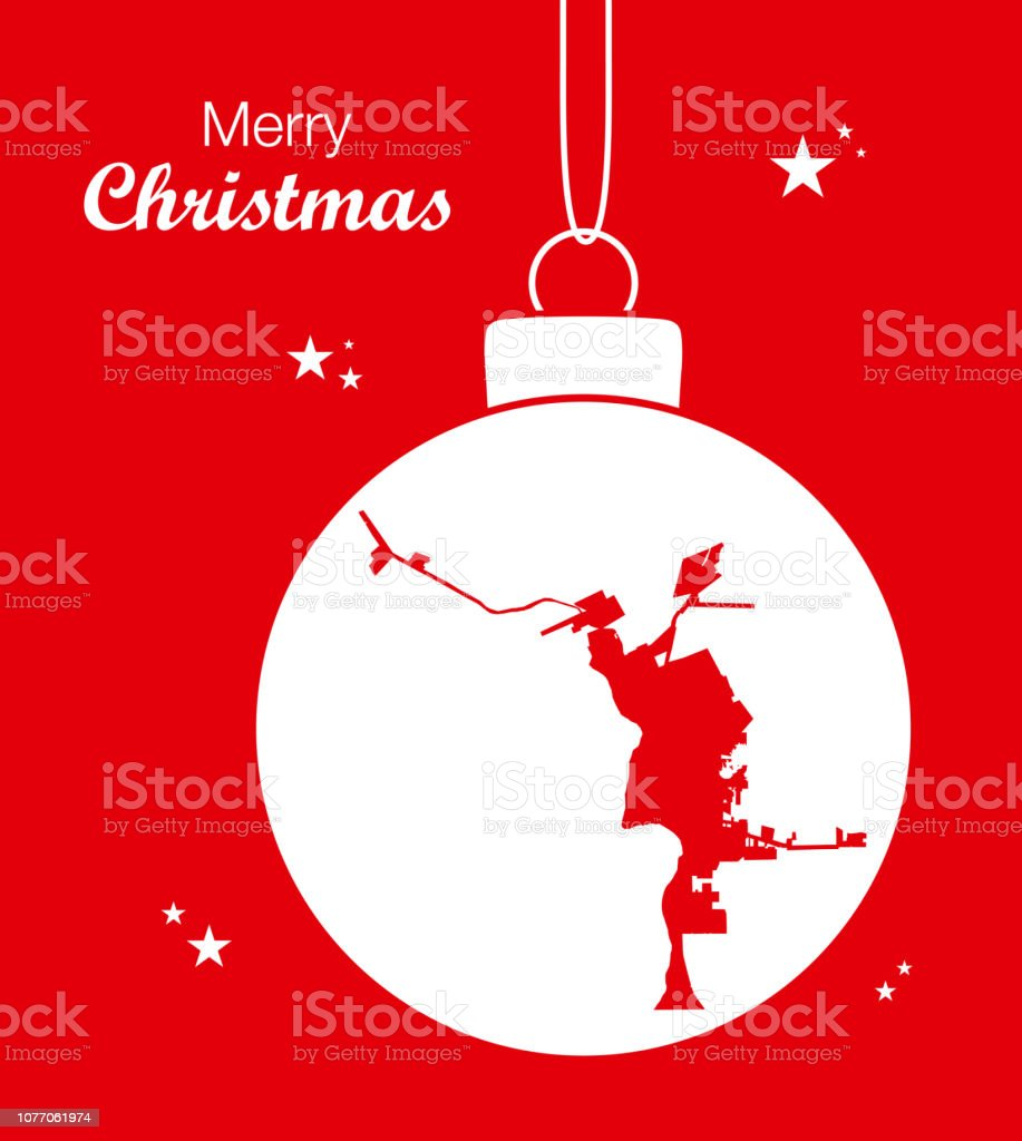 Map Of Texas Showing Laredo.Merry Christmas Illustration Theme With Map Of Laredo Texas Stock