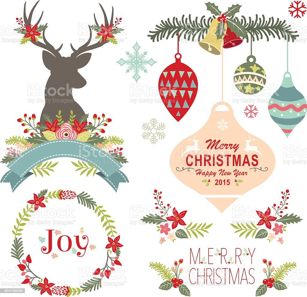 Merry Christmas Illustration: Henry Christmas 일러스트 겨울에 대한 스톡 벡터 아트 및 기타 이미지