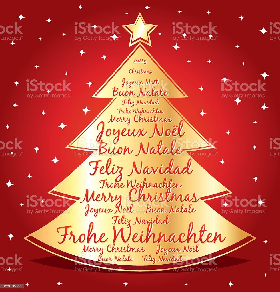 Merry Christmas In Different Languages.Merry Christmas In Different Languages Greeting Card Stock