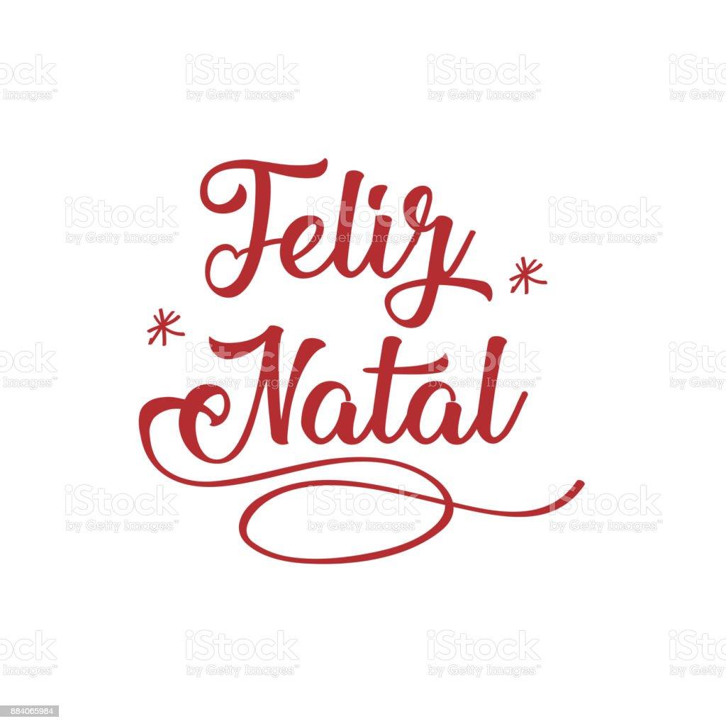 Feliz Navidad En Portugues Brasil.Ilustracion De Feliz Navidad En Portugues Tarjeta De