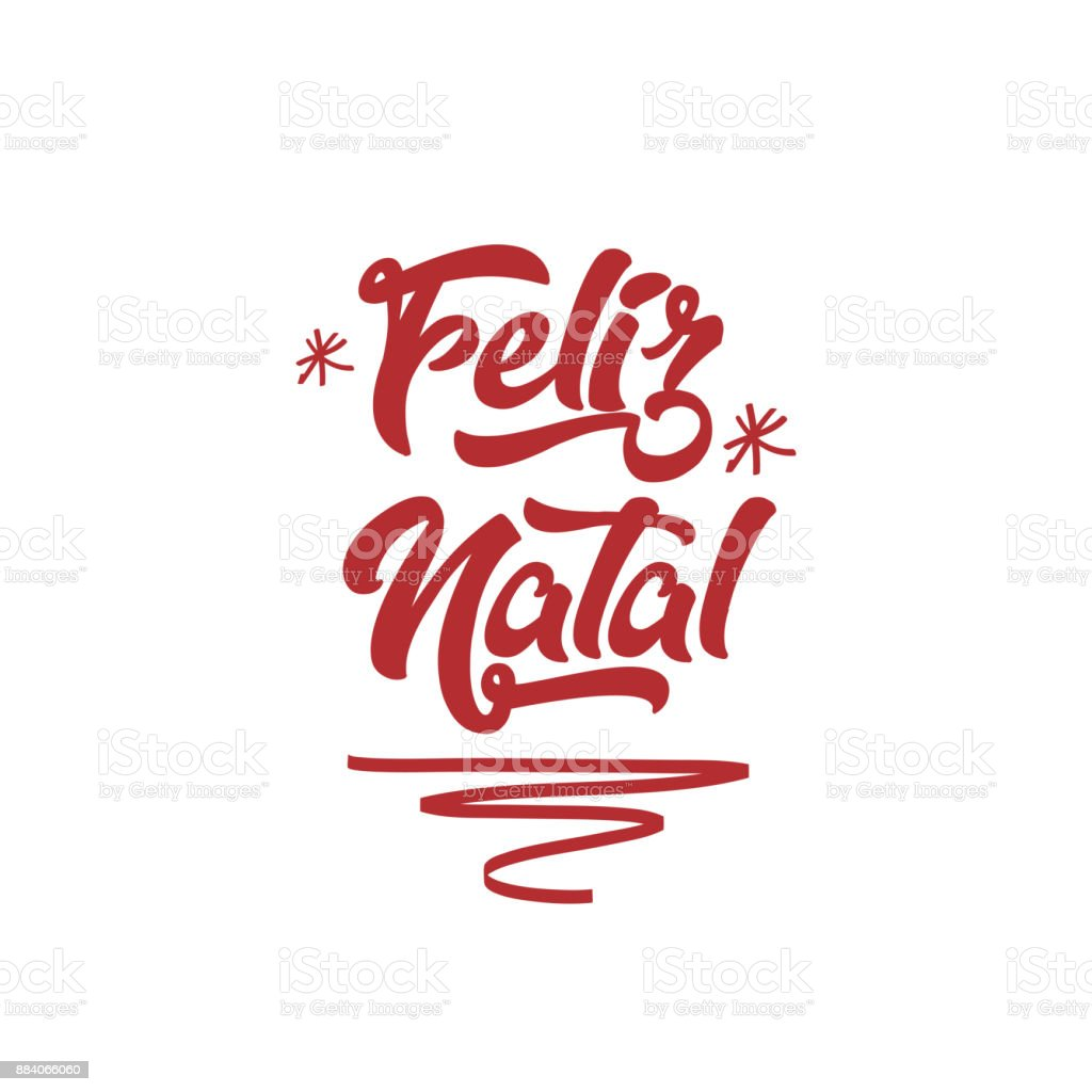 Merry christmas in portuguese calligraphic lettering greeting card merry christmas in portuguese feliz natal calligraphic lettering greeting card holiday royalty m4hsunfo
