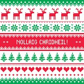 merry christmas in scottish gaelic greetings card seamless pattern - Merry Christmas In Gaelic