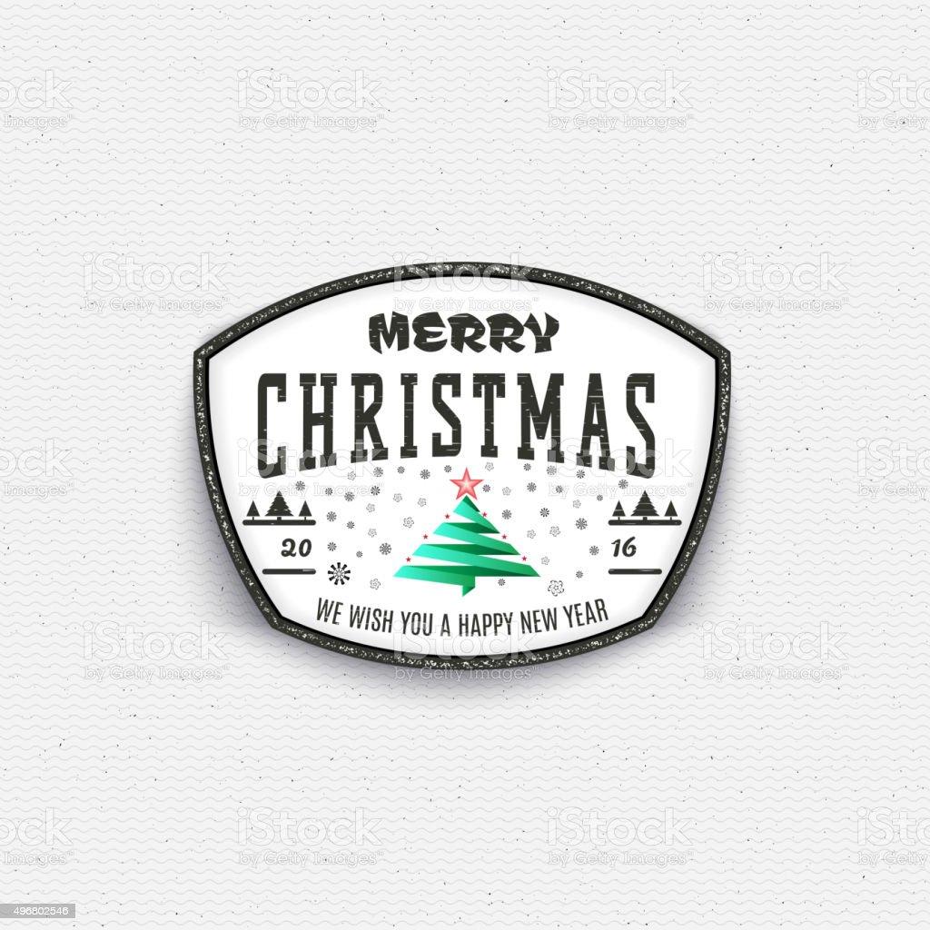Frohe Weihnachten Etiketten.Frohe Weihnachtenabzeichen Und Etiketten Für Jede Verwendung Stock