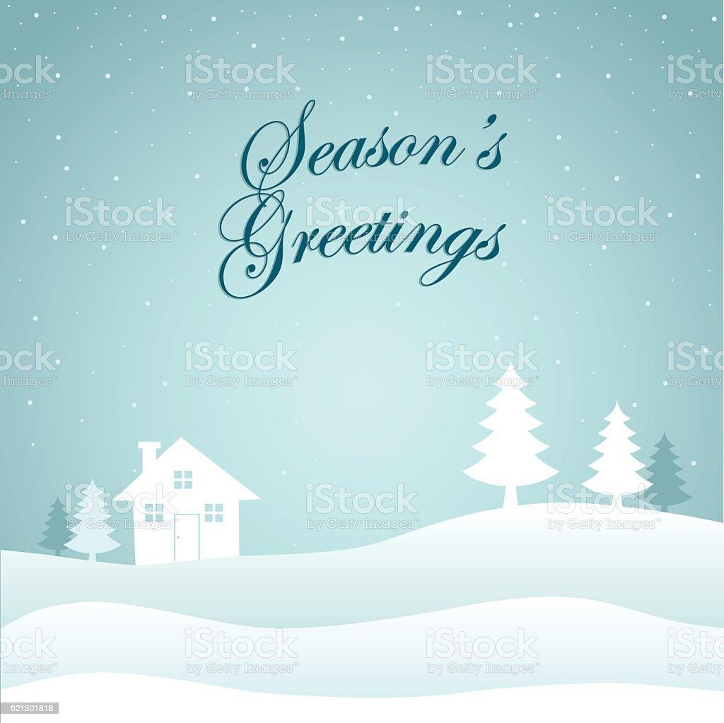 Frohe Weihnachten Landschaft Lizenzfreies frohe weihnachten landschaft stock vektor art und mehr bilder von anhöhe