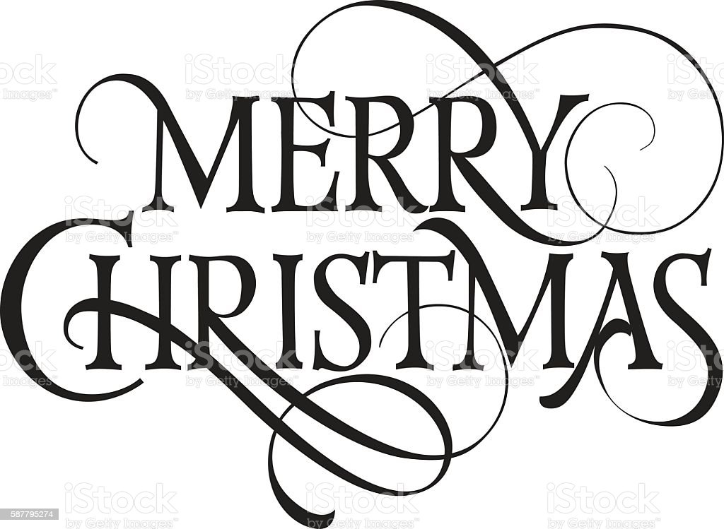 Merry Christmas Lettering.Merry Christmas Lettering 1 Stock Illustration Download