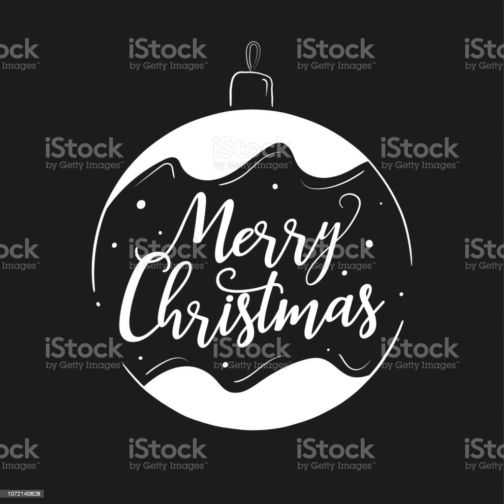 Merry Christmas Lettering Design And Decoration Season