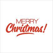 Merry Christmas! Lettering design. Vector
