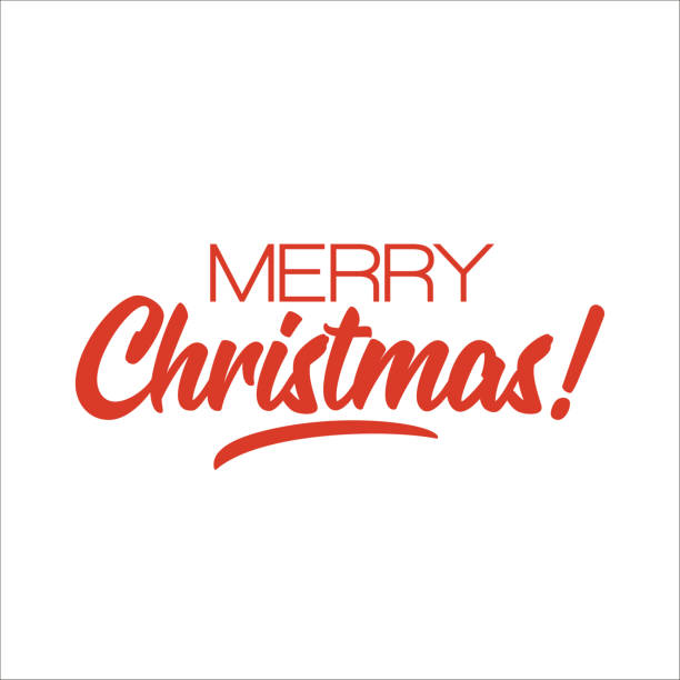 merry christmas! lettering design. vector - text stock illustrations, clip art, cartoons, & icons