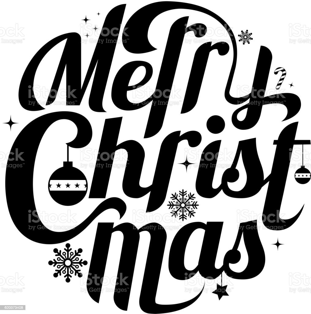 Merry Christmas lettering text white background vector illustrat merry christmas lettering text white background vector illustrat - arte vetorial de stock e mais imagens de caligrafia royalty-free