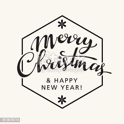 Merry Christmas Sale. Holiday Vector Illustration. Lettering Composition