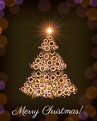 Merry Christmas Light Tree