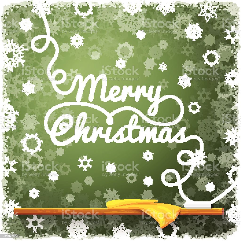 Frohe Weihnachten Nachricht Geschrieben Auf Die Grüne Tafel Mit ...