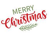 istock Merry Christmas modern calligraphy phrase quote 1328493298