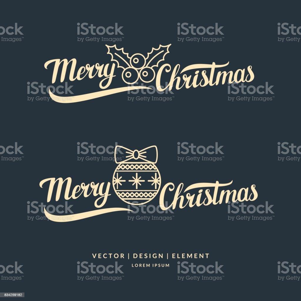 Frohe Weihnachten Moderne Handgezeichnete Schriftzug Satz