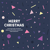 Modern design layout template for merry christmas cover design for web banner or print advertising with abstract background.