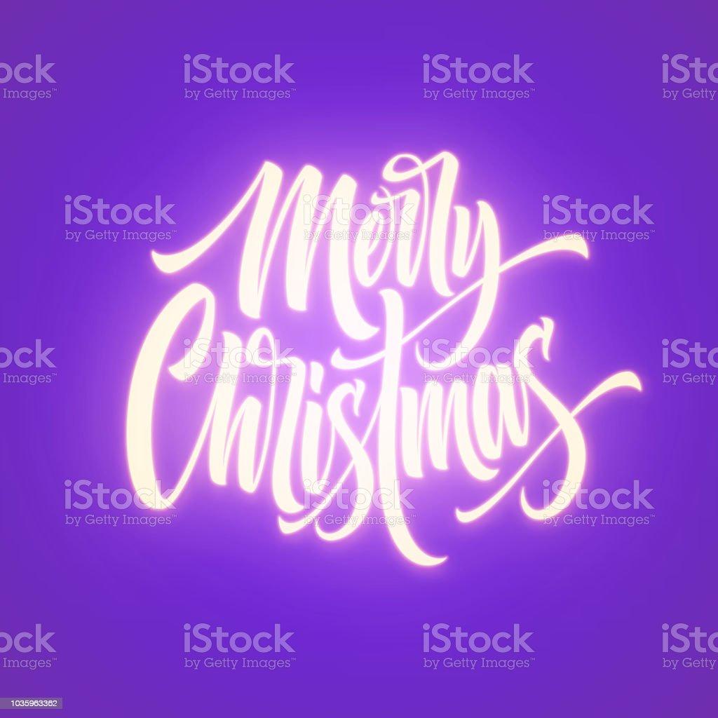 Frohe Weihnachten Schriftzug Beleuchtet.Frohe Weihnachten Neon Schriftzug Stock Vektor Art Und Mehr Bilder
