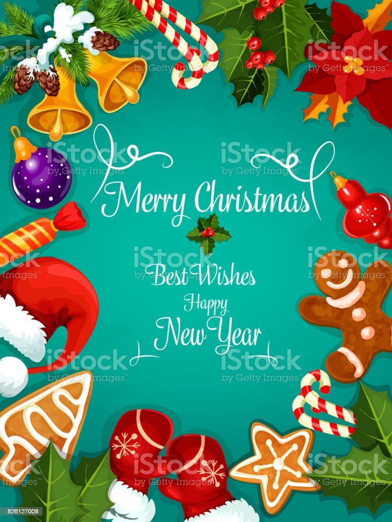 Merry christmas new year best wishes greeting stock vector art merry christmas new year best wishes greeting royalty free merry christmas new year kristyandbryce Image collections