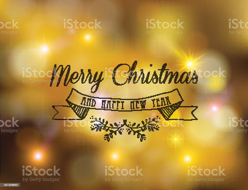 merry christmas new year label ornament gold bokeh royalty free merry christmas new year label