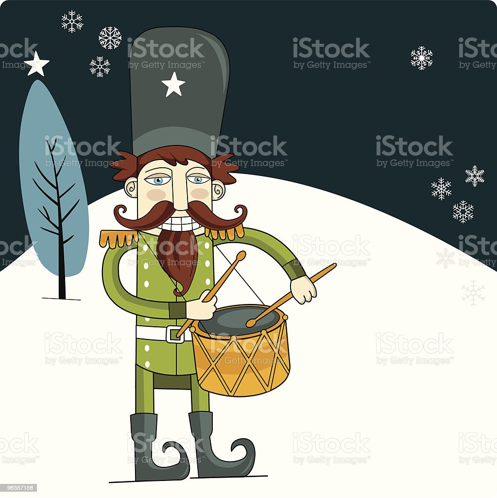 Merry Christmas Nutcracker royalty-free merry christmas nutcracker stock vector art & more images of christmas