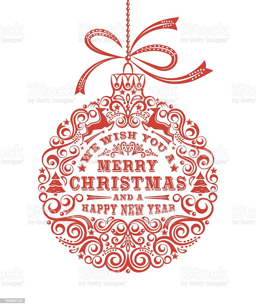 Merry Christmas Ornament royalty-free merry christmas ornament stock vector art & more images of beauty