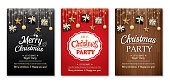 Merry christmas party and gift box on background invitation theme concept. Happy holiday greeting banner and card design template.